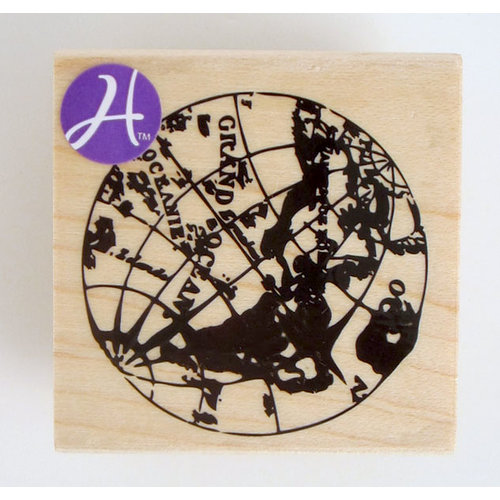 Hampton Art - 7 Gypsies - Wood Mounted Stamps - Globe