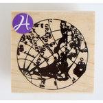 Hampton Art - 7 Gypsies - Wood Mounted Stamps - Globe