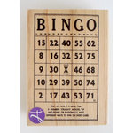 Hampton Art - 7 Gypsies - Wood Mounted Stamps - Bingo Card