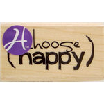 Hampton Art - 7 Gypsies - Wood Mounted Stamps - Choose Happy