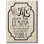 Hampton Art - Hot Fudge Studio - Wood Mounted Stamp - Lemons and Tequila