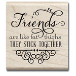 Hampton Art - Hot Fudge Studio - Wood Mounted Stamp - Stick Together