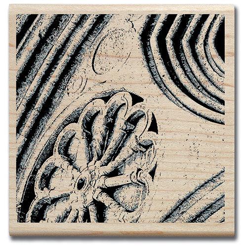 Hampton Art - 7 Gypsies - Wood Mounted Stamp - Facade