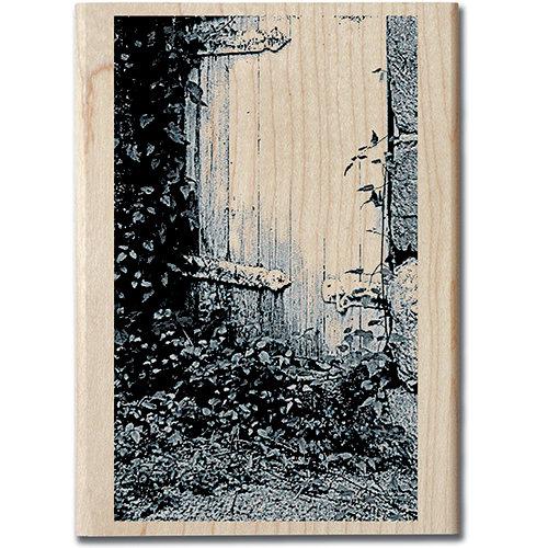 Hampton Art - Art Etc - Wood Mounted Stamp - Hidden Door
