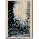 Hampton Art - Art Etc - Wood Mounted Stamp - Hidden Door