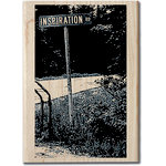 Hampton Art - Art Etc - Wood Mounted Stamp - Inspiration