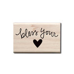Hampton Art - Wood Mounted Stamps - Bless Your Heart