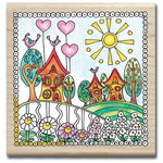 Hampton Art - Color Me Collection - Wood Mounted Stamps - Neighborhood