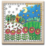 Hampton Art - Color Me Collection - Wood Mounted Stamps - Garden