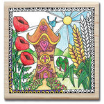 Hampton Art - Color Me Collection - Wood Mounted Stamps - Home