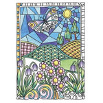 Hampton Art - Color Me Collection - Wood Mounted Stamps - Flowers