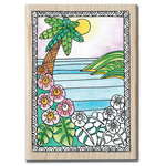Hampton Art - Color Me Collection -Wood Mounted Stamps - Paradise
