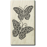 Hampton Art - Wood Mounted Stamps - Coloring Butterflies