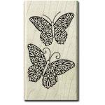 Hampton Art - Wood Mounted Stamps - Coloring Butterflies