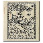 Hampton Art - Wood Mounted Stamps - Color Me Bird
