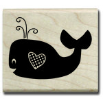 Hampton Art - Wood Mounted Stamps - Whale