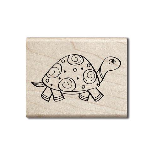 Hampton Art - Wood Mounted Stamps - Turtle