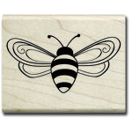 Hampton Art - Wood Mounted Stamps - Bee
