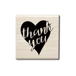 Hampton Art - Wood Mounted Stamps - Thank You Heart