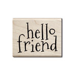 Hampton Art - Wood Mounted Stamps - Hello Friend