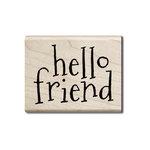 Hampton Art - Wood Mounted Stamps - Hello Friend