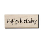 Hampton Art - Wood Mounted Stamps - Happy Birthday