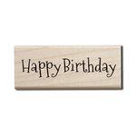 Hampton Art - Wood Mounted Stamps - Happy Birthday