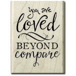 Hampton Art - Wood Mounted Stamps - You Are Loved