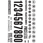 Hampton Art - 7 Gypsies - Clear Acrylic Stamps - Numbers