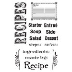 Hampton Art - 7 Gypsies - Clear Acrylic Stamps - Recipes