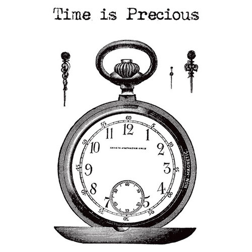Hampton Art - 7 Gypsies - Clear Acrylic Stamps - Time is Precious