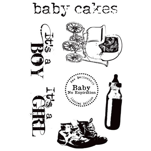 Hampton Art - 7 Gypsies - Clear Acrylic Stamps - Baby Cakes