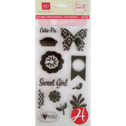 Hampton Art - Echo Park - Clear Acrylic Stamps - Sweet Girl 1