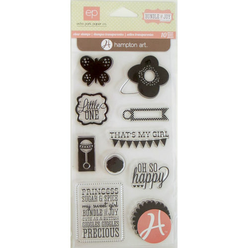 Hampton Art - Echo Park - Clear Acrylic Stamps - Bundle of Joy Girl