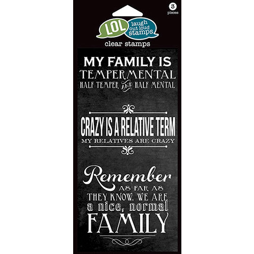 Hampton Art - Laugh Out Loud Stamps - Clear Acrylic Stamps - Crazy Family