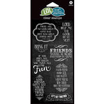 Hampton Art - Laugh Out Loud Stamps - Clear Acrylic Stamps - Friends Sisters at Heart