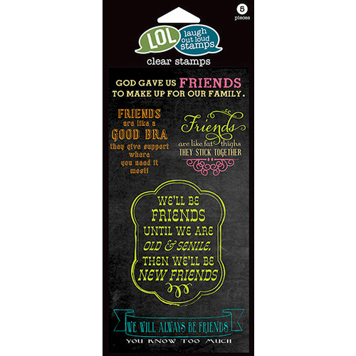 Hampton Art - Laugh Out Loud Stamps - Clear Acrylic Stamps - Friends Stick Together