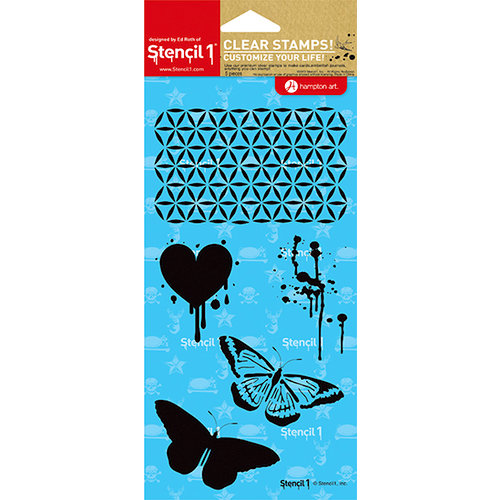 Hampton Art - Stencil 1 - Clear Acrylic Stamps - Moroccan Patterns