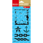 Hampton Art - Stencil 1 - Clear Acrylic Stamps - Distressed Nautical