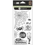 Hampton Art - Clear Acrylic Stamps - Kelly Panacci - Halloween Spiders