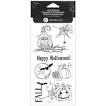 Hampton Art - Clear Acrylic Stamps - Happy Halloween