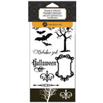 Hampton Art - Clear Acrylic Stamps and Stencil - Halloween - October 31st