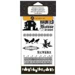Hampton Art - Clear Acrylic Stamps and Stencil - Halloween - Haunted