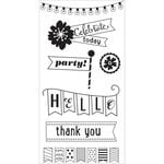 Hampton Art - Clear Acrylic Stamps - Celebrate Today