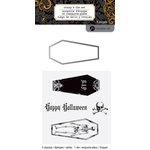 Hampton Art - Halloween Collection - Designer Die and Clear Acrylic Stamps Set - Coffins
