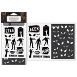 Hampton Art - Halloween Collection - Clear Acrylic Stamps and Stencil - Zombie
