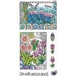 Hampton Art - Color Me Collection - Clear Acrylic Stamps - Life