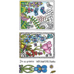 Hampton Art - Color Me Collection - Clear Acrylic Stamps - Grateful