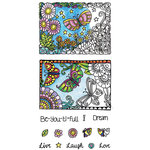 Hampton Art - Color Me Collection - Clear Acrylic Stamps - Beautiful