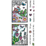 Hampton Art - Color Me Collection - Clear Acrylic Stamps - Love